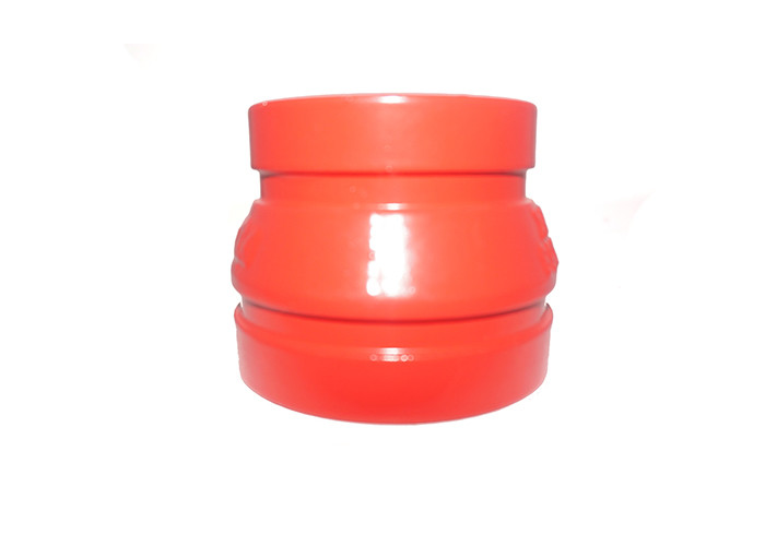 FM UL CE Approved Ductile Iron Grooved Pipe Fittings Flexible Grooved Coupling