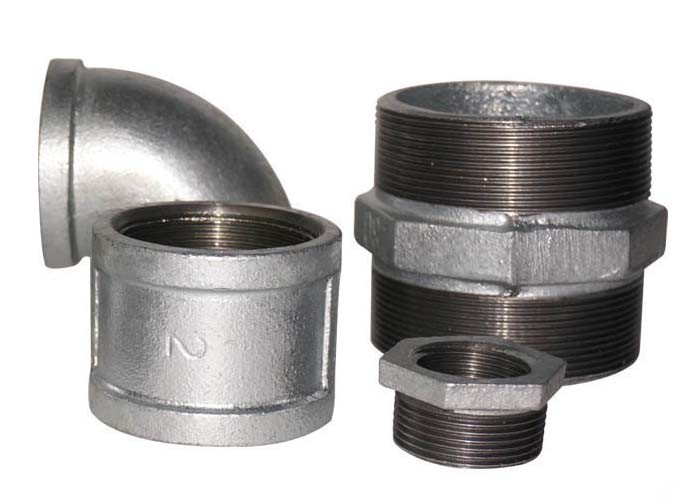 Durable Cast Iron Threaded Fittings 90 Degree Tee Lightweight Female Connection