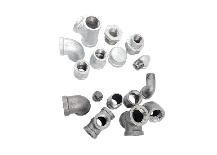 Galvanized Plumbing Malleable Iron Pipe Fittings 90 Degree Elbow For Construction Industry