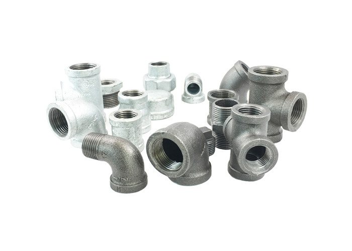 Threaded Cast Malleable Iron Pipe Fittings Square Head Code For Steam / Air